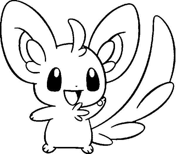 Coloriages pokemon chinchidou dessins pokemon for Cosmog coloring pages