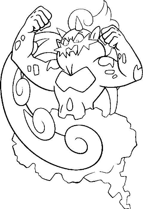 coloriages pokemon boreas