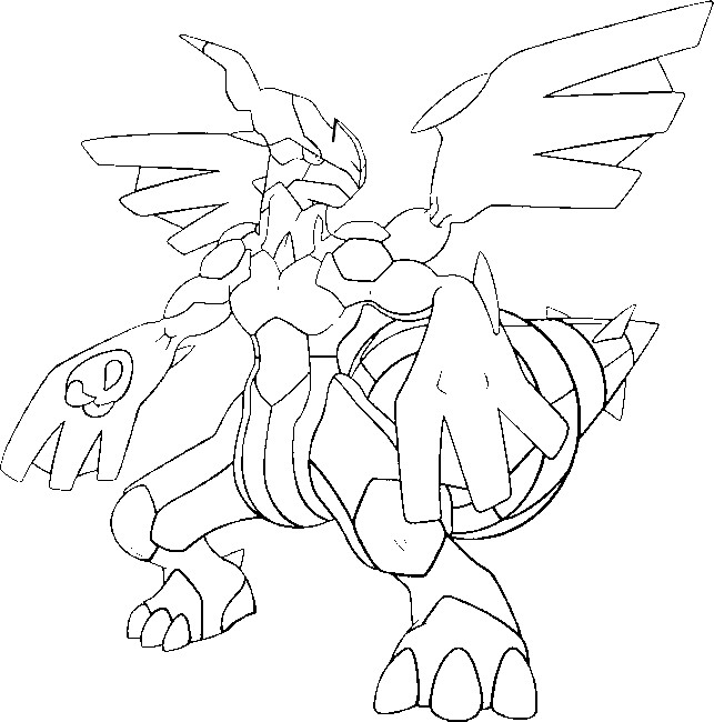 zekrom ex coloring pages | Coloriages Pokemon - Zekrom - Dessins Pokemon