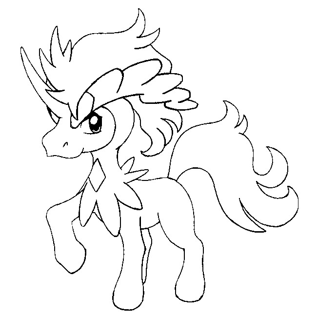 coloriages pokemon keldeo