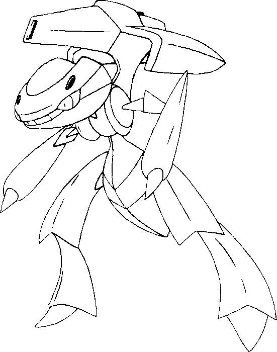 Coloriages Pokemon - Genesect - Dessins Pokemon