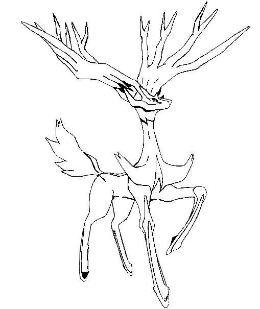 Rare Deer Pokemon Coloring Pages
