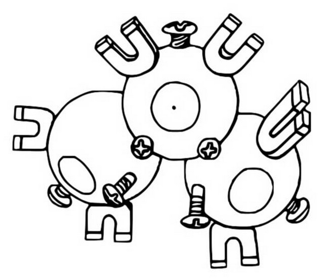 Coloriages Pokemon Magneton Dessins Pokemon