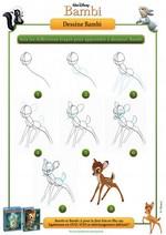 Jeu Apprend à dessiner Bambi