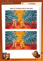 Jeu 7 différences Simba et Nala