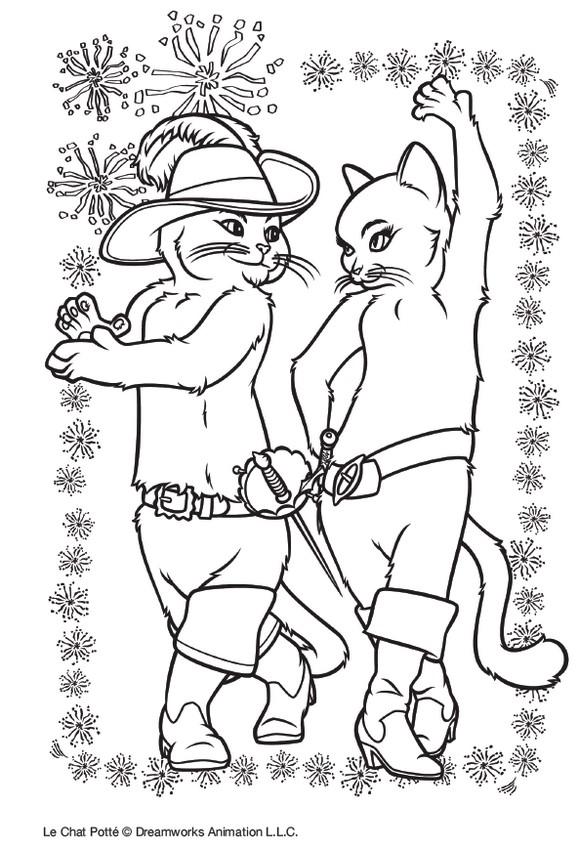 Coloriage Le Chat Potte A Imprimer.Jeu A Imprimer Le Chat Potte Coloriage Kitty Et Le Chat Potte 1