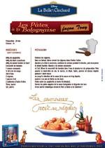 Jeu Recette: Pâtes à la bolognaise