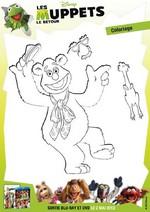 Jeu Coloriage de Fozzie du Muppet Show