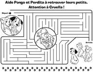 Jeu Aide Pongo et Perdita à retrouver leurs petits!