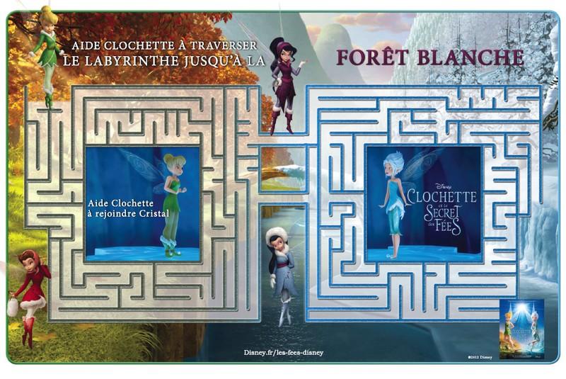 Jeu à imprimer Clochette et le secret des fees : Labyrinthe vers la ...