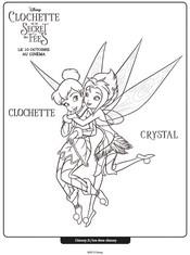 Jeu Coloriage Clochette et Crystal