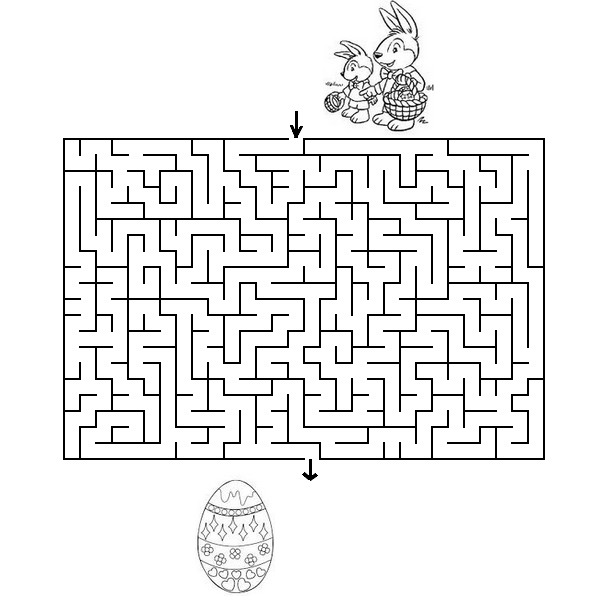 Favori Jeu à imprimer Paques labyrinthes 4 MO29
