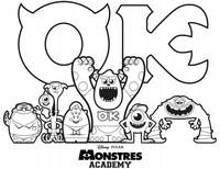 Jeu Coloriage Monstres et Cie