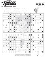 Jeu Sudoku difficile