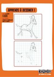 Jeu Apprends à dessiner Khumba