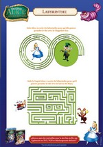 Jeu Labyrinthe Alice au Pays des Merveilles