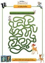 Jeu Labyrinthe Bambi