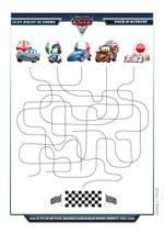 Jeu Labyrinthe Cars Disney