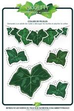 Jeu Découpages collier de feuilles