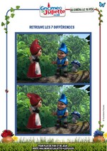 Jeu Les 7 différences Gnoméo et Juliette