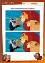 Jeu Jeu des différences  Roi Lion