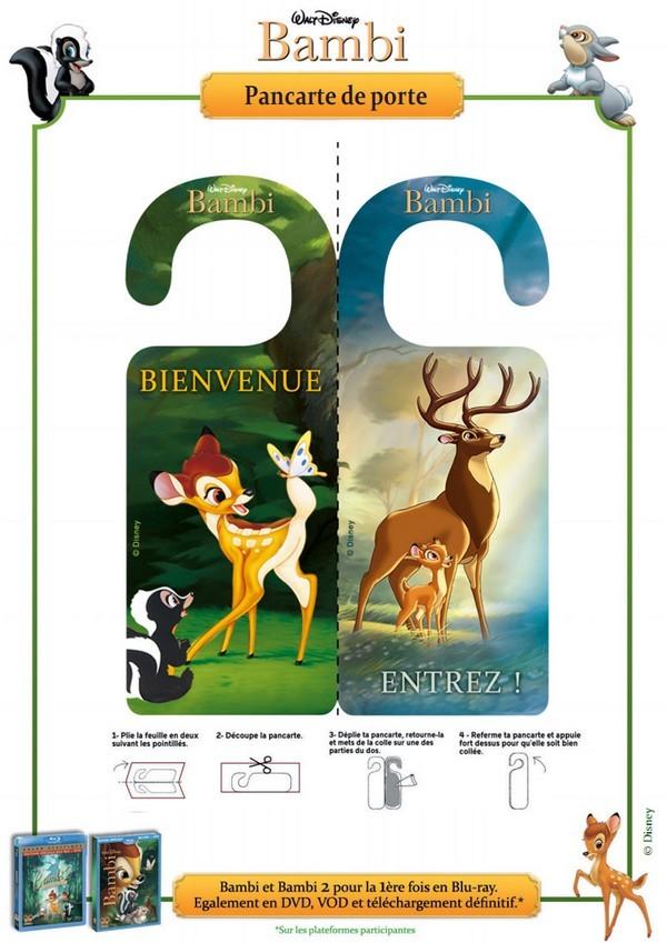Jeu imprimer panneaux de porte pancarte de porte bambi 5 for Pancarte bienvenue pour porte