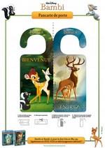 Jeu Pancarte de porte Bambi