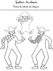 Jeu Graphisme: termine les costumes des arlequins