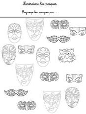 Jeu Numération: compte les masques