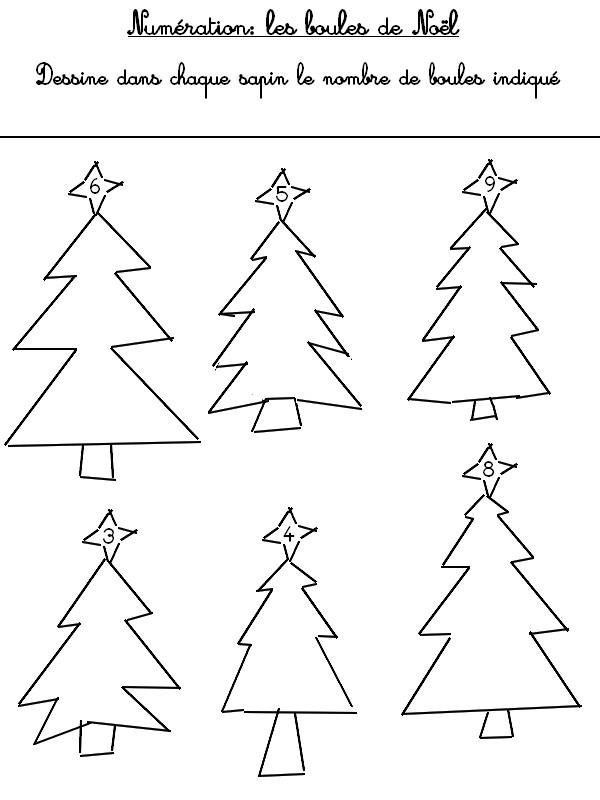 Gut bekannt Jeu à imprimer Activites maternelle Noel : Numération Les sapins  TQ04