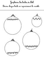 Jeu Graphisme Les boules de Noël 1