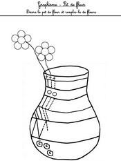 Jeu Graphisme: décore le pot de fleurs et remplis-le de fleurs