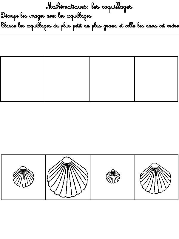 Assez Jeu à imprimer Activites maternelle Ete : Classe les coquillages  TQ51