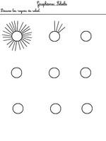 Jeu Graphisme: les rayons du soleil