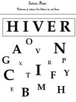 Jeu Lecture - Hiver