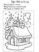 Jeu Puzzle Chalet sous la neige