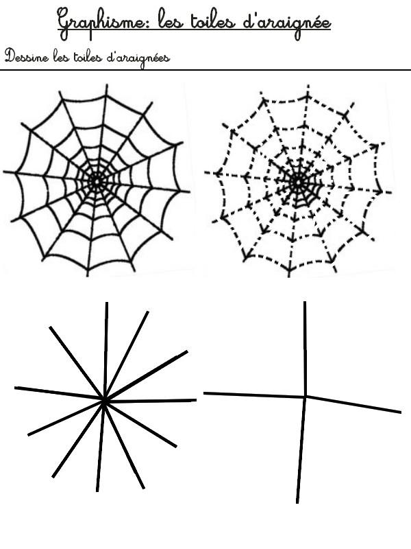 jeu imprimer activites maternelle halloween dessine les toiles d 39 araign e 2. Black Bedroom Furniture Sets. Home Design Ideas