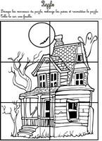 Jeu Puzzle de la maison hantée