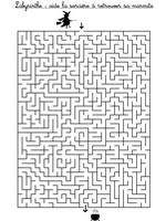 Jeu Labyrinthe: aide la sorcière à retrouver sa marmite