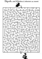 Jeu Labyrinthe: aide le fantôme à retrouver la maison hantée
