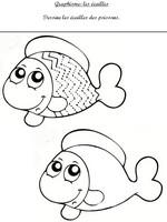 Jeu Graphisme: dessine les écailles du poisson